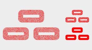Icone punteggiate dei mattoni di vettore royalty illustrazione gratis