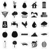 Icone pure messe, stile semplice dell'acqua Immagine Stock