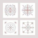 Icone quadrate astratte geometriche Fotografia Stock