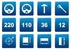 Icone quadrate del dispositivo impostate. Fotografie Stock Libere da Diritti