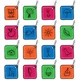 Icone quadrate della modifica, insieme 2 Immagini Stock