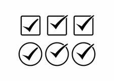 Icone quadrate ed arrotondate del segno convenzionale di vettore messe royalty illustrazione gratis
