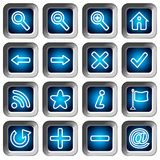 Icone quadrate impostate - bottoni di percorso Fotografia Stock Libera da Diritti