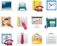 Icone quadrate universali di vettore. Commercio della parte 7. Immagini Stock
