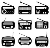 Icone radiofoniche Fotografie Stock