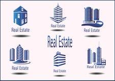 icone Real Estate Fotografia Stock Libera da Diritti