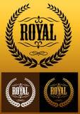 Icone reali della corona dell'alloro illustrazione vettoriale