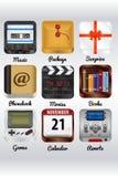 Icone realistiche Fotografia Stock