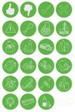 Icone residue dei rifiuti Fotografie Stock Libere da Diritti