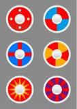Icone rotonde degli schermi messe Fotografie Stock