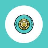360 icone rotonde di web o video della macchina fotografica Fotografie Stock
