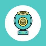 360 icone rotonde di web o video della macchina fotografica Fotografia Stock Libera da Diritti