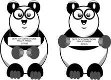 Icone rotte del panda Fotografia Stock Libera da Diritti