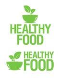 Icone sane dell'alimento. Immagini Stock
