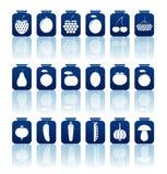 Icone in scatola delle merci Fotografia Stock