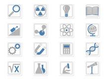 Icone scientifiche impostate royalty illustrazione gratis