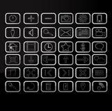 Icone semplici Immagine Stock