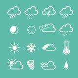 Icone semplici del tempo di previsione royalty illustrazione gratis