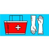 Icone semplici della medicina Immagine Stock
