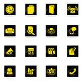 Icone semplici di affari Fotografia Stock