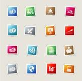 Icone semplici di affari Fotografie Stock
