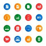 Icone semplici di affari Immagini Stock Libere da Diritti