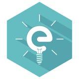 Icone semplici di energia verde Fotografia Stock