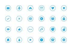 Icone semplici di Infographic messe - no 2 - Azzurri Fotografie Stock