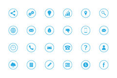 Icone semplici di Infographic messe - no 1 - Azzurri Fotografia Stock