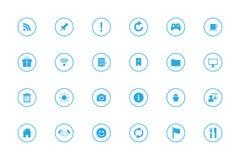 Icone semplici di Infographic messe - no 3 - Azzurri Fotografia Stock Libera da Diritti
