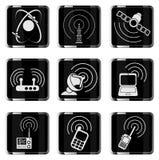 Icone semplici di vettore del segnale radio Fotografie Stock Libere da Diritti