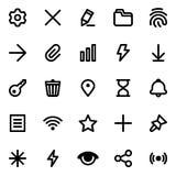 Icone semplici di vettore dell'interfaccia messe illustrazione vettoriale