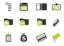 Icone semplici di vettore dell'ufficio Fotografia Stock Libera da Diritti
