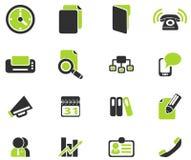 Icone semplici di vettore di affari Fotografie Stock