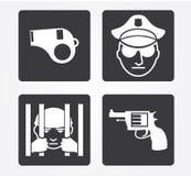 Icone semplici di web: Crimine Immagine Stock Libera da Diritti