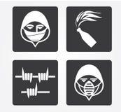 Icone semplici di web: Crimine Fotografia Stock Libera da Diritti