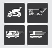 Icone semplici di web: servizio di distribuzione Immagine Stock