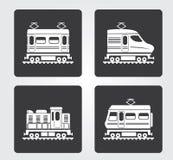 Icone semplici di web: Treno Immagine Stock