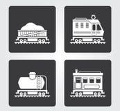 Icone semplici di web: Treno Immagini Stock Libere da Diritti
