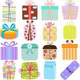 Icone semplici e sveglie di vettore: Contenitori di regalo /presents royalty illustrazione gratis