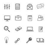 Icone semplici impostate Fotografia Stock Libera da Diritti