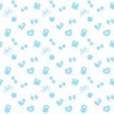 Icone senza cuciture del blu di forma fisica del modello royalty illustrazione gratis
