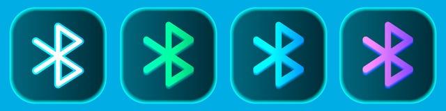 Icone senza fili di Bluetooth messe Vettore illustrazione vettoriale