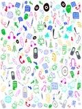 Icone senza giunte di Web di doodle Fotografia Stock