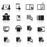 Icone set01 del libro di Digital Fotografie Stock