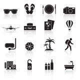 Icone set01 di viaggio Fotografia Stock Libera da Diritti