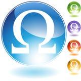 Icone - simbolo greco Omega Fotografia Stock Libera da Diritti