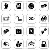 Icone sociali del media&blog - serie di B&W Fotografia Stock
