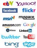 Icone sociali di media Fotografia Stock Libera da Diritti