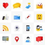 Icone sociali di media. Fotografia Stock Libera da Diritti